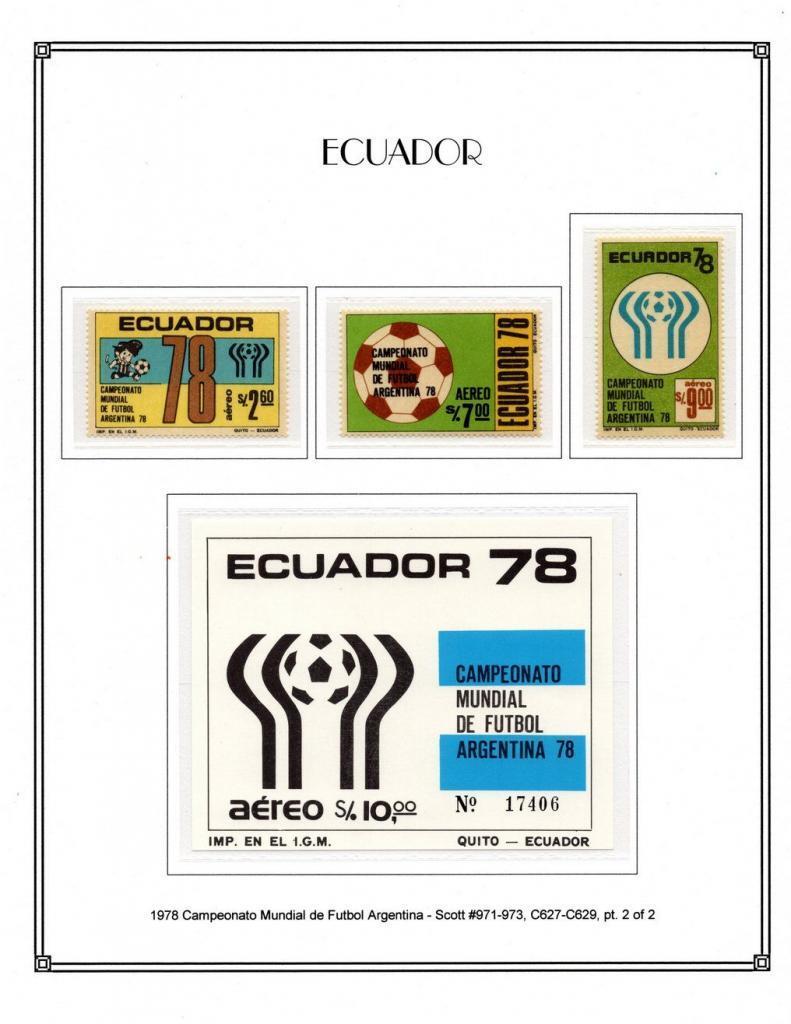 1978 Scott 971 973 C627 C629 pt. 2 of 2