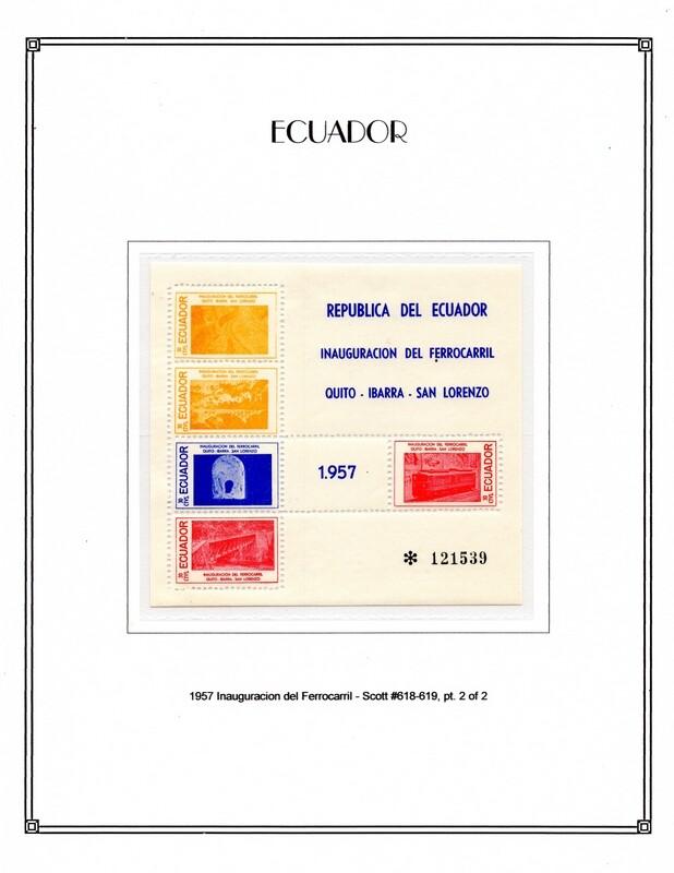 1957 Scott 618 619 pt. 2